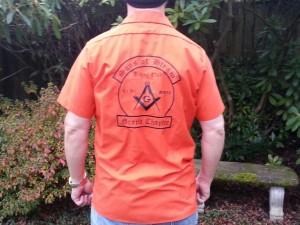 short sleeve orange w:black